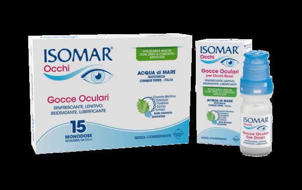 Isomar Occhi - Gocce oculari con effetto rinfrescane, lenitivo, idratante e lubrificante